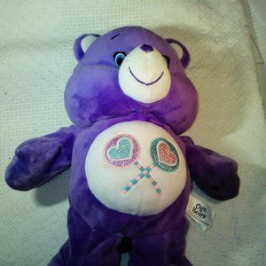 "Talking Care Bear purple 14"" new batteries"